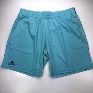 "Men Adidas Tennis Parley 9"" Blue Athletic Shorts"
